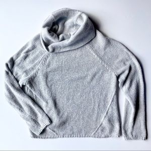 Torrid cowl neck long sleeve grey knit sweater